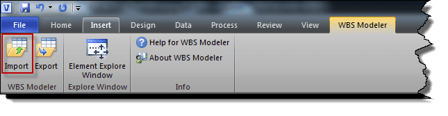WBS Modeler Add-In for Visio 2010