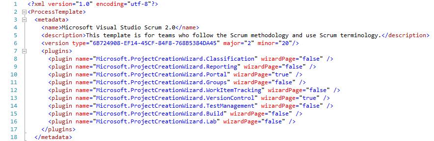 Abbildung 5: Process Template.xml mit versoin-Tag