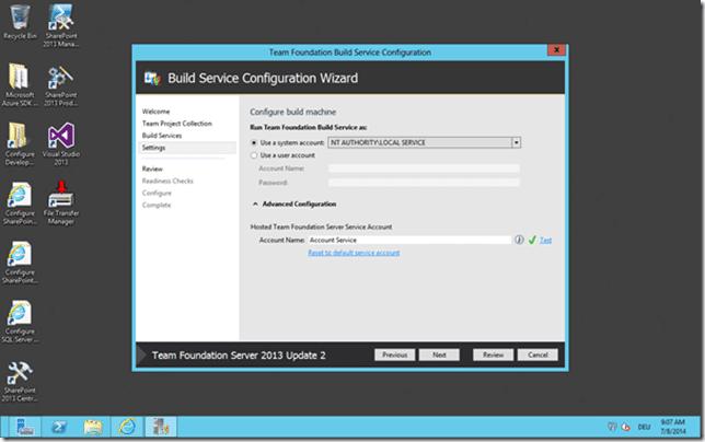 Installation des Build Servers