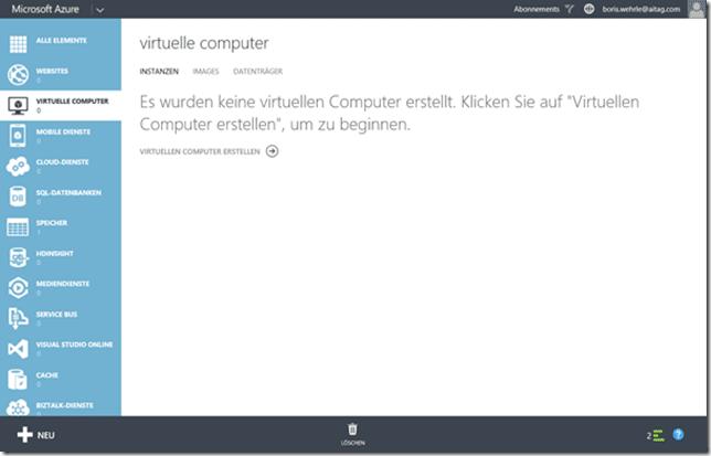 Erstellung eines virtuellen Computers