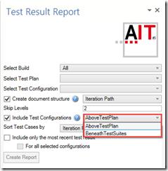 Abbildung 4: Neues Option bei Include Test Configurations
