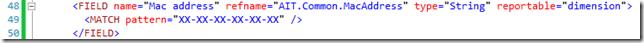 Abbildung 1: MATCH Element für eine MAC-Adresse