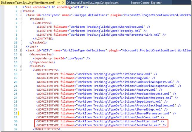 Abbildung 3: Auszug der Datei WorkItems.xml