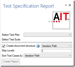 Abbildung 1: Test Spezifikation auf Basis eines Testplans