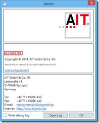 Abbildung 3: About-Dialog mit der neuen Versionsnummer