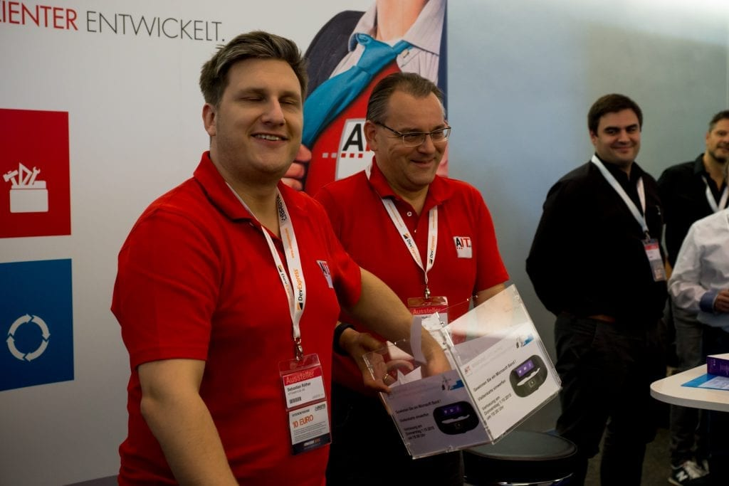 Am Ende der Konferenz konnten wir noch den glücklichen Gewinner eines Microsoft Band ermitteln.