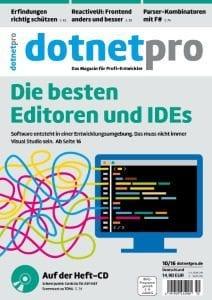 dotnetpro Ausgabe 10/2016