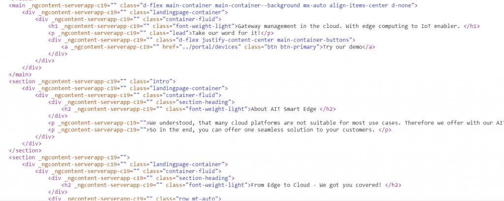 Quelltext der erzeugten index.html