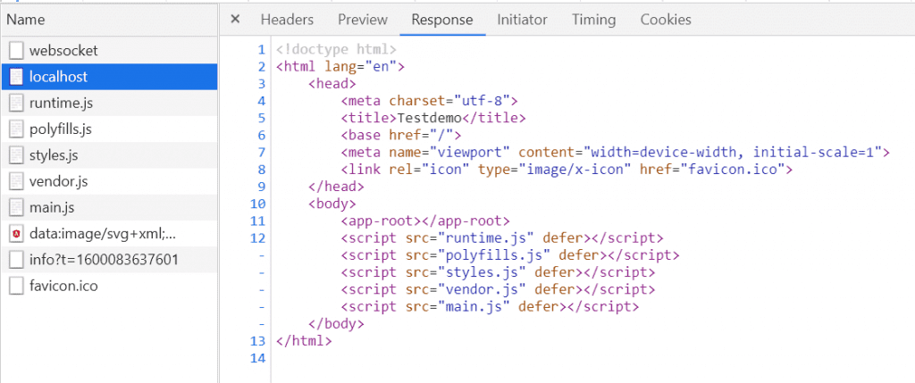 HTTP Request einer Angular SPA